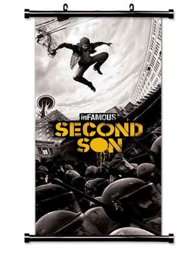 Sale alerts for  Infamous: Second Son Game Fabric Wall Scroll Poster (16x35) Inches - Covvet