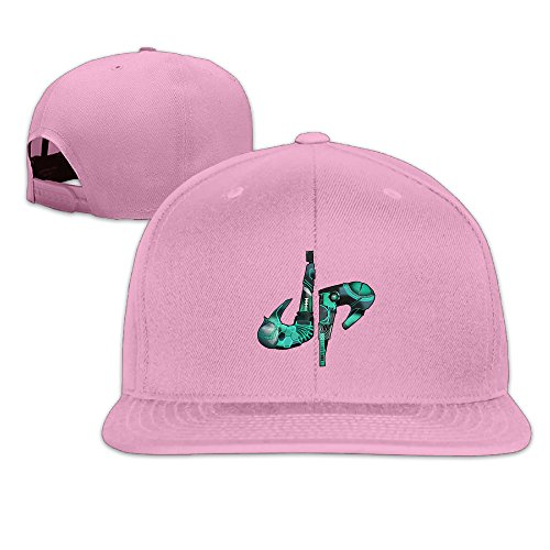 k-fly2-adjustable-dude-perfect-logo-baseball-caps-hat-unisex-pink