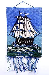 THE BEACH COMPANY Indian Handmade Jute Cloth Patchwork Wall Hanging