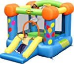 Party Slide and Hoop Bouncy Castle wi...