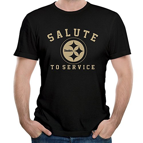 Mens Pittsburgh Steelers Salute To Service O Neck Short Sleeve T Shirt Tee (2014 Salute Service compare prices)