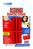 KONG Dog Dental Stick Medium (Your dog will love you for it! Recommended by Vets Worldwide. Suitable for medium dogs 15-35lbs (7-16kg). Stuffable - pastes of peanut butter. Flexible, durable KONG natural rubber. Cleans Teeth. Made in USA. Approximate len