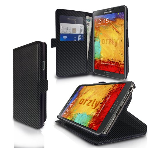 Orzly® - multi-function wallet case per galaxy note iii (copertina