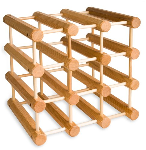 J.K. Adams MWR-B12-N Hardwood 12-Bottle Wine Rack, Natural