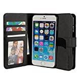 iPhone 6 Wallet Case, BUDDIBOX Protective Folio Leather Flip Wallet Case with Foldable Kickstand Stand for Apple iPhone 6 4.7, (Black)
