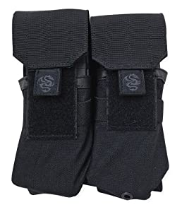 Tacprogear Double Rifle Mag Pouch, Black