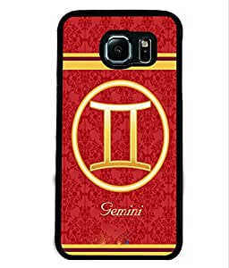 Fuson 2D Printed Sunsign Gemini Designer back case cover for Samsung Galaxy S6 Edge - D4396