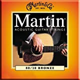 Martin 80/20 Acoustic Guitar Strings - Bronze Wound (Light / Medium, .0125 - .055)
