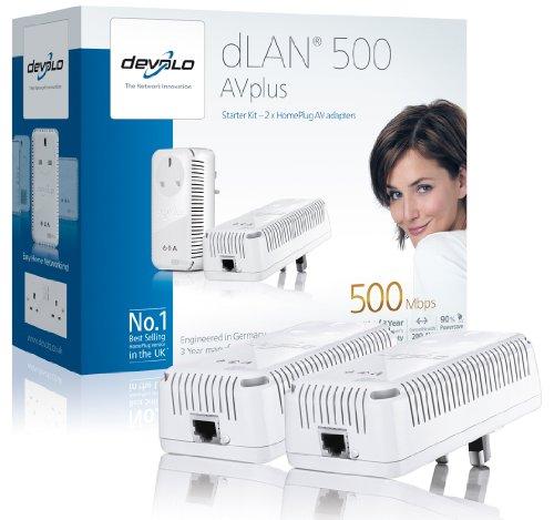 Devolo dLAN 500 AVplus (IEEE 1901/ HomePlug AV) Starter Kit - (2x plugs)