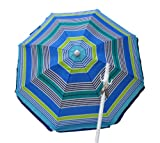 Deluxe 6 ft Beach Umbrella by Rio - UPF 100+