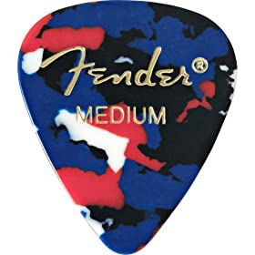 fender 351 shape guitar pick pack confetti medium