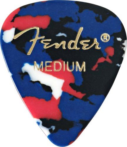Fender 351 Classic Celluloid Guitar Picks 12-Pack - Confetti - Medium