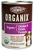 Organix Organic Chicken and Potatoes Canned Canine Formula Dog Food, 12.7-Ounce Cans (Pack of 12)