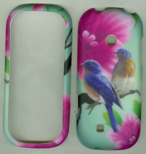 Cute Birds Cover Case Faceplate Protector Rubberized Lg Cosmos 3 Vn251S Prepaid Phone / Cosmos 2 Vn251 Prepaid Phone (Verizon Wireless)