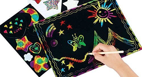 Miles Kimball Scratch Art Paper - Assorted Pack