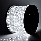 PYSICAL® 110V 2-Wire Waterproof LED Rope Light Kit for...