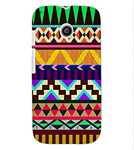 ColourCraft Tribal Pattern Design Back Case Cover for MOTOROLA MOTO E