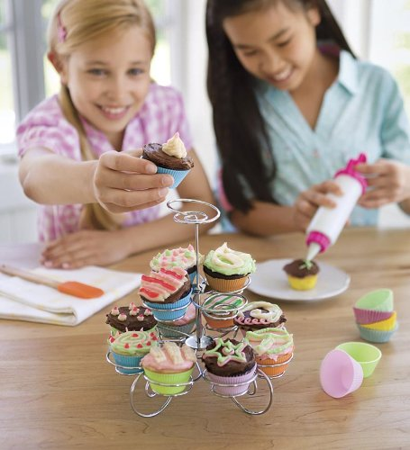 Young Chef's Cupcake Baking Kit and Cupcake Stand