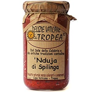 NDUJA DI SPILINGA by Delizie Vaticane 6.35 oz (Spicy Spreadable Italian Sausage) - Italian Artisan Food Gourmet Delicatessen