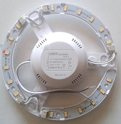 takestop® CIRCOLINA LED 10W 1100LUME PLAFONIERA DISCO NEON ANELLO CIRCOLARE