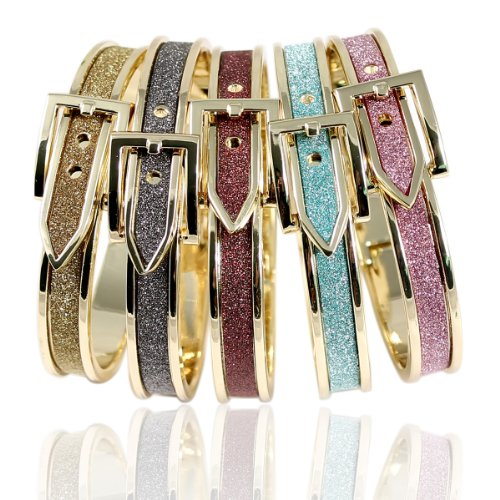 Trendy Glittery Buckle Bracelet, Designer Inspired and Celebrity Favorite - Multi Colors