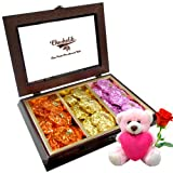 Chocholik Luxury Chocolates - Best Creation Of Rocks Collection With Teddy And Rose