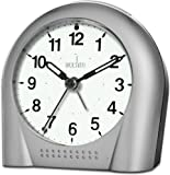 Acctim Sweeper Silver Light & Snooze Alarm Clock