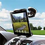 Universal 360 Degree Rotatable Windshield Car Mount Window Tablet Holder for Amazon Kindle, DX, Fire, Fire HD 6, HD 7 8 10 - Fire HD 8.9, HD8, HD10, Kids Edition - Kindle Fire HDX, HDX 7, HDX 8.9 (Color: Black)