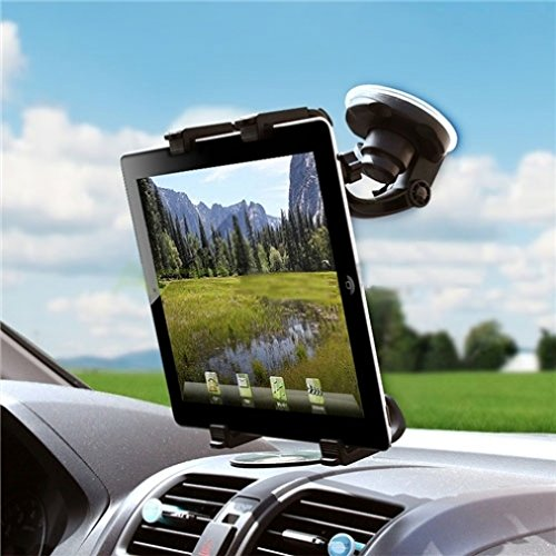 Universal 360 Degree Rotatable Windshield Car Mount Window Tablet Holder for AT&T LG G Pad F 8.0 - T-Mobile Alcatel OneTouch Pop 7 - T-Mobile LG G Pad F 8.0 - Amazon Fire HD 10