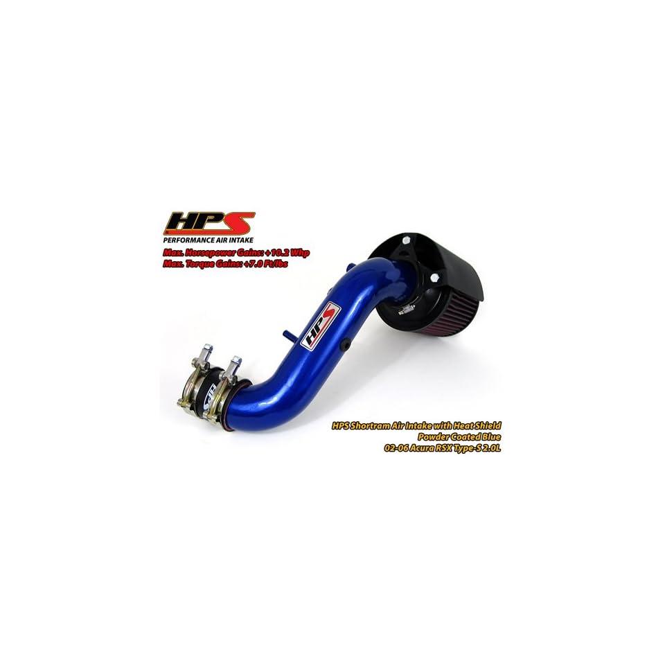 02 05 Honda Civic Si 2.0L HPS Short Ram Air Intake Kit Blue 03 04