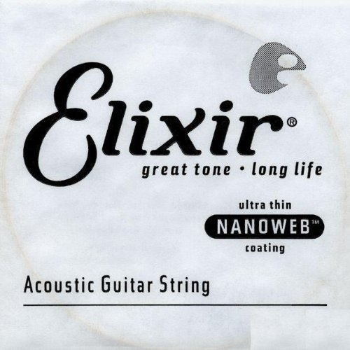 Elixir® Strings Acoustic 80/20 Bronze Guitar Single String With Nanoweb® Coating