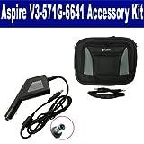 Acer Aspire V3-571G-6641 Laptop Accessory Kit includes: SDA-3556 Car Adapter, SDC-34 Case