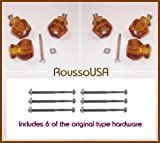 Contractors' 6 Pack-TRUE ANTIQUE DEPRESSION CLASS KNOBS for Cabinet Knob Pulls. Vintage Styling from earlier period in American History (Rich Amber)