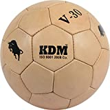 KDM V 30 Leather Football, Size- 5 (Light Brown)