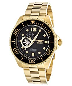 Invicta Men's 15391 Pro Diver Analog Display Japanese Automatic Gold Watch