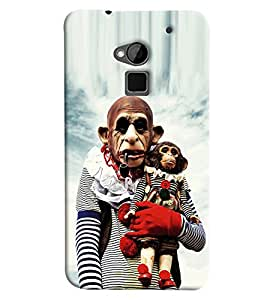 Omnam Old Monkey Carrying Doll Printed Back Cover Case For HTC One Max