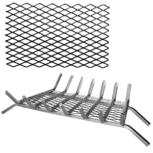Black Steel Retainer Ember for Grates - 20 x 10 inch