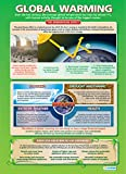 Global Warming Geography Educational Wall ChartPoster in laminated paper A1 850mm x 594mm