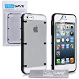 iPhone 5 / 5S Case Black / Clear Silicone Gel Hard Cover