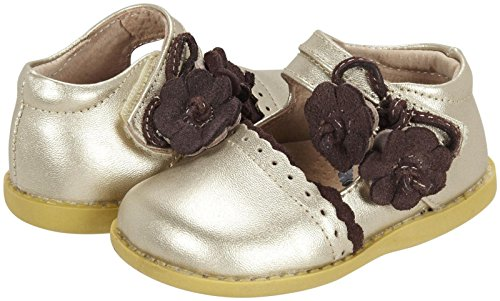 Livie & Luca Girls' Blue Bell (Infant/Toddler) - Metallic Gold - 7 Toddler front-214574