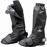 コミネ(Komine) バイク用ネオレインブーツカバー(ロング) ブラック L 09-033 RK-033