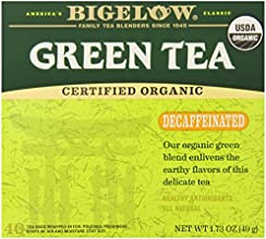 Bigelow Decaffeinated Organic Green Tea 40 Count Box