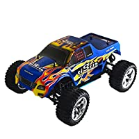 ALEKO RCC1088UBLUE 1/10TH Scale 4WD Nitro Powered Monster Truck, Blue