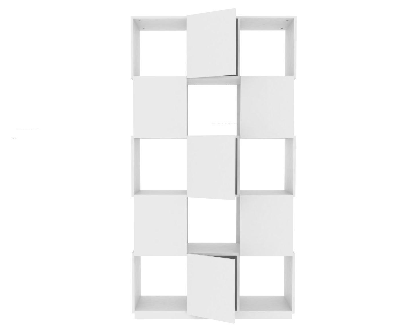 TemaHome Branch Regal 3×5 mit 3 Türen in glattweiss – Matt lackiert günstig kaufen
