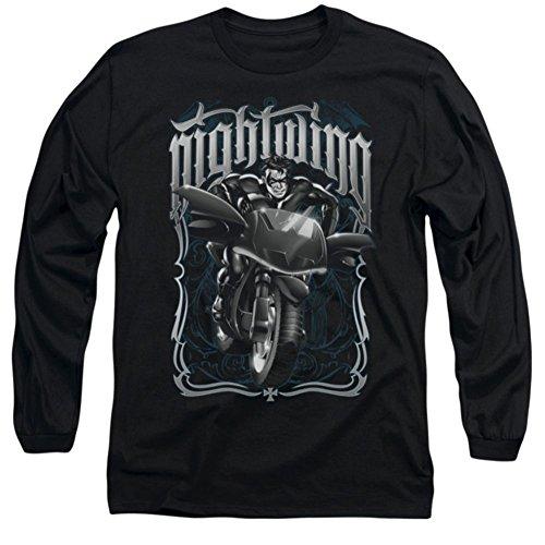 Batman Nightwing: Biker Long Sleeve T-Shirt