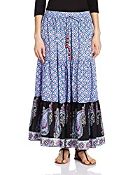 Rain and Rainbow Women's Skirt (SK-600-SS/110-05_Purple_Medium)