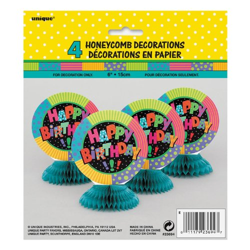 Infinite Birthday Honeycomb Decorations