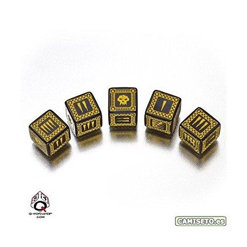 Ork Dice D6 Black/Yellow (5) Board Game