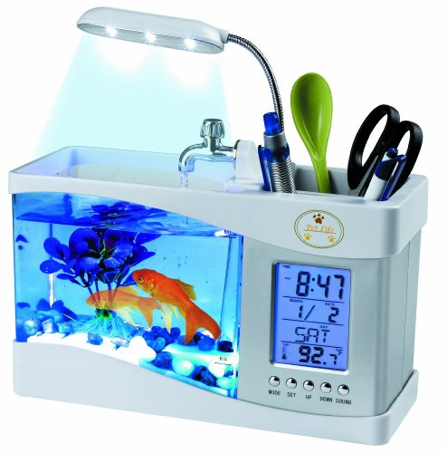 Pet Life All-In-One Digital Desktop Aquarium, White