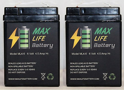 Replacement For American Hunter De645Dc Game Feeder Battery - 2 Pack